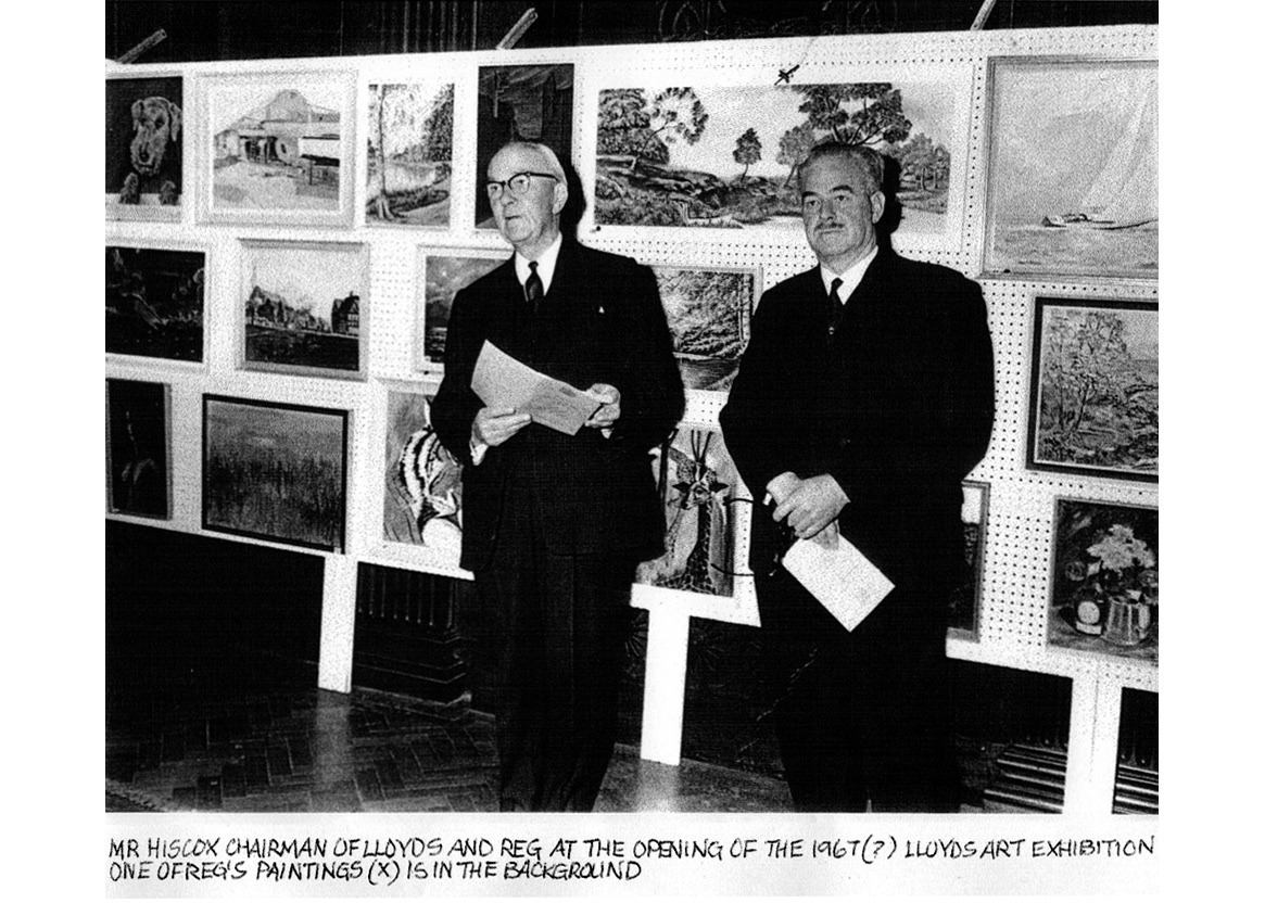 1967 (or 68) Lloyd's Art Group Autumn Exhibition private view being opened by Chairman Ralph Hiscox ©Graham Smith