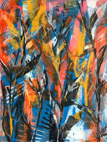 Ina Prodanova | Autumn Glory | Acrylic | 49x65cm framed | £485