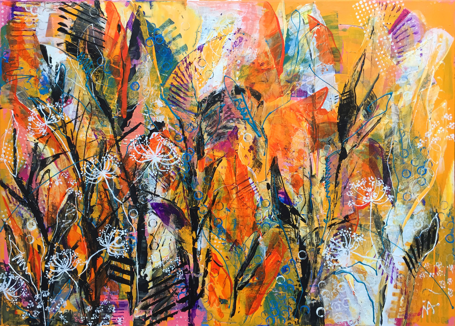 Ina Prodanova | In The Deepest |Acrylic | 95x69cm framed | £650