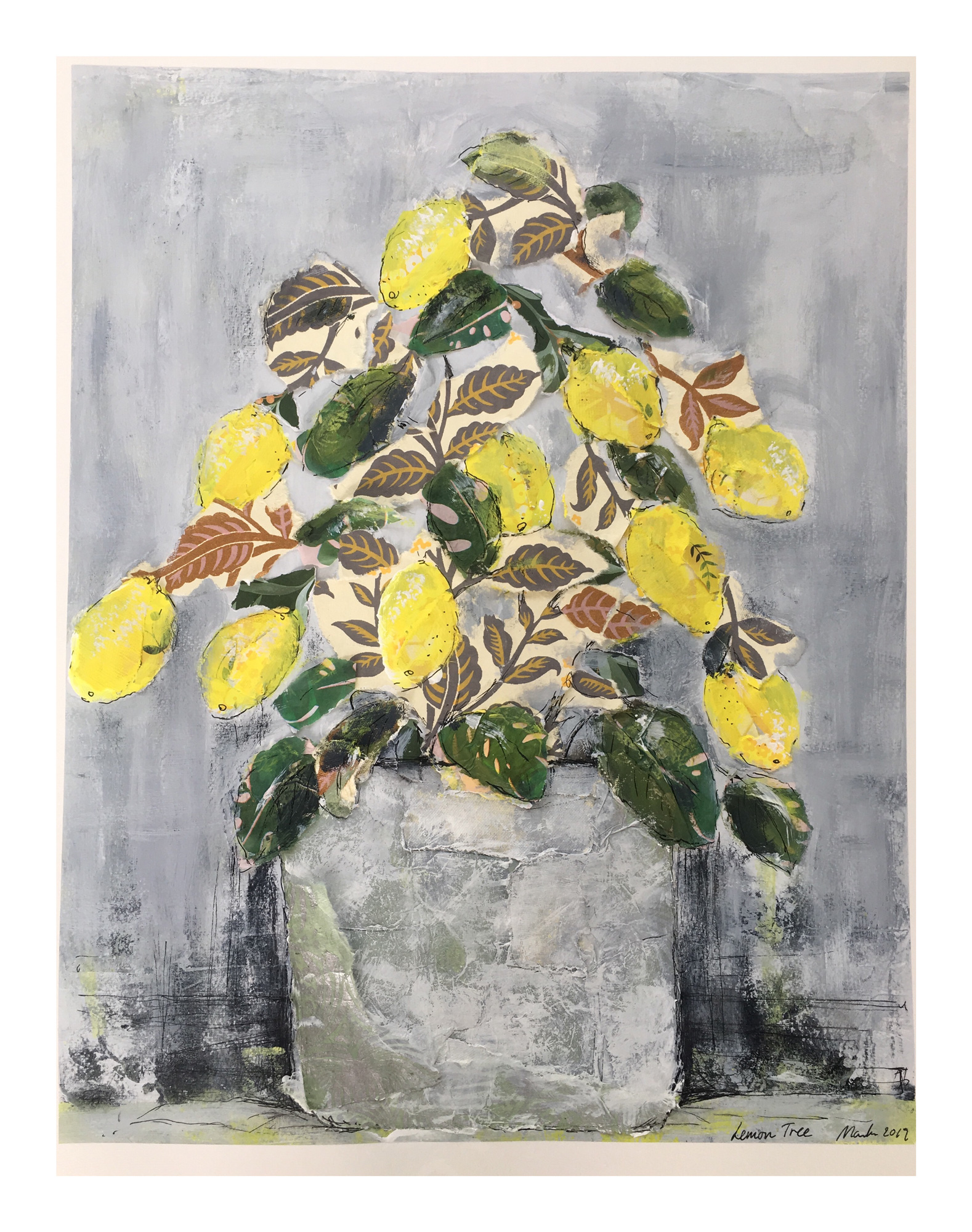 Marika Sonne | Lemon Tree | Mixed media | 40x50cm unframed | £150