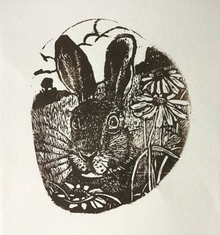 Maxine Fitter | Hare | Wood engraving | 12x10cm | £50