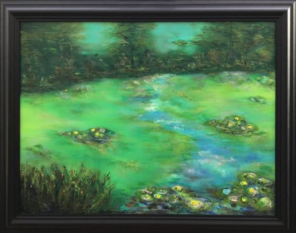 Olivia English | Genus Nymphaea Coronam | Oil on canvas | 118x93cm | £1595