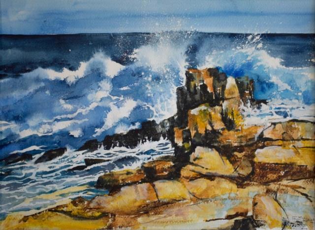 Pam Clark | Sea Swell | Watercolour | 52x43cm | £230