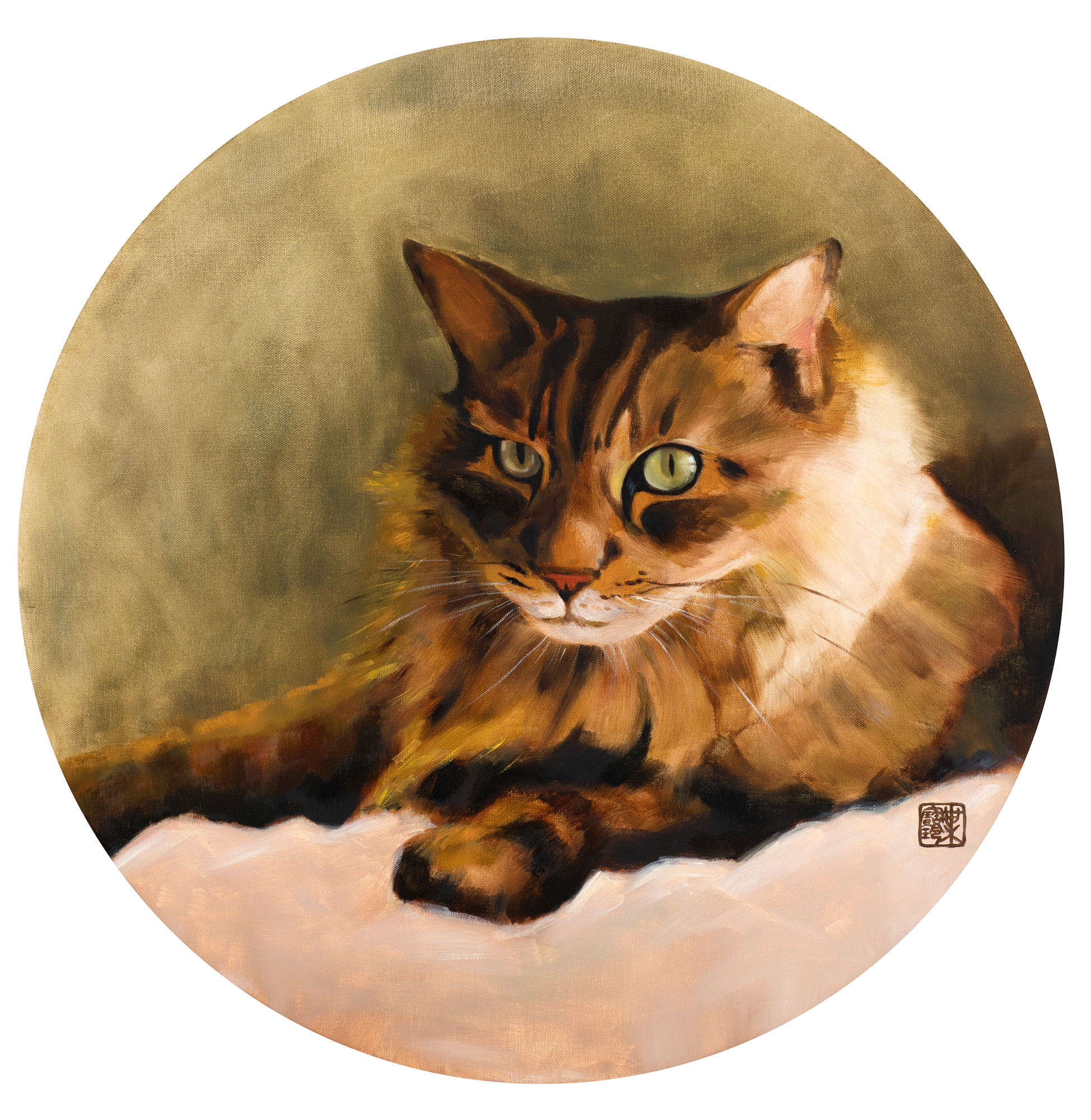 Pau Ling Yap | Thor | Oil on circular canvas | 61cm diameter | £1350 (print £280)