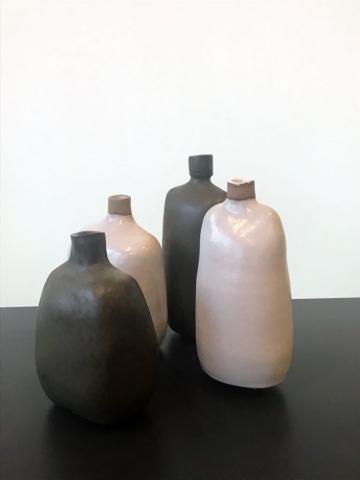 Phaedra Kouseli | Standing Still | 4 ceramic vessels (21x11cm, 20x10cm, 18x13cm, 17x12cm)