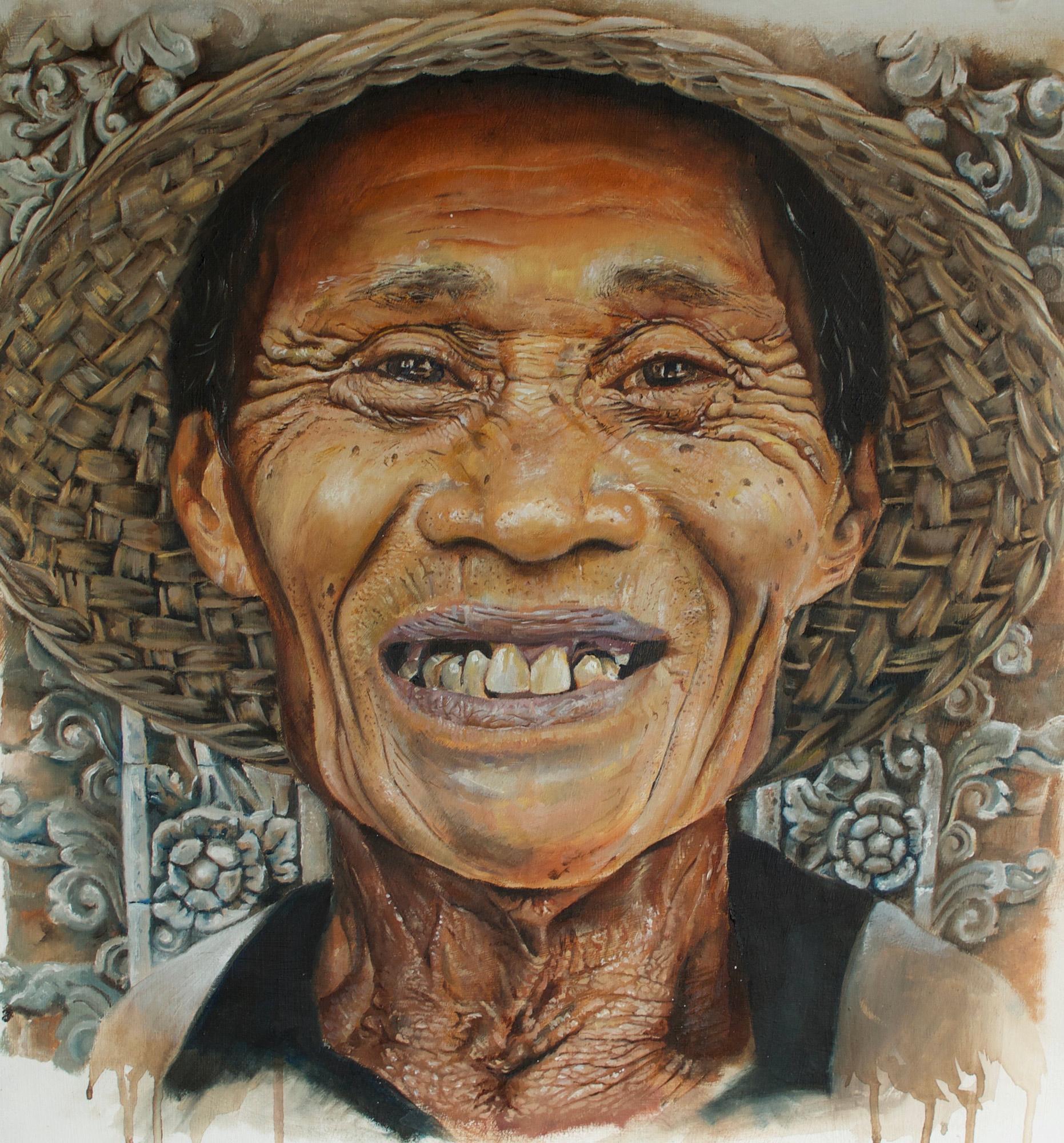 Richard Taylor | Bali Man | Oil on canvas | 60x50cm | £500