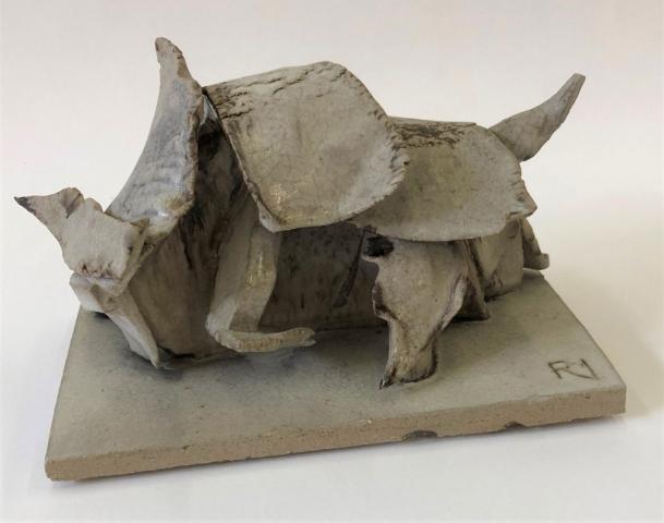 Robin Muckle | Charging Bull (small) | Glazed stoneware ceramic | 20x12x15cmc| £75