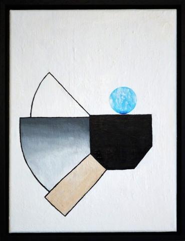 Simon Ekrelius | Gravity | Acrylic on canvas | 34x44cm | £380