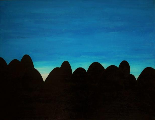 Simon Ekrelius | The Queue | Acrylic on canvas | 91x71cm | £480