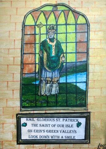 William Lethorn | St. Patrick | Acrylic on canvas | 30x40cm | £350