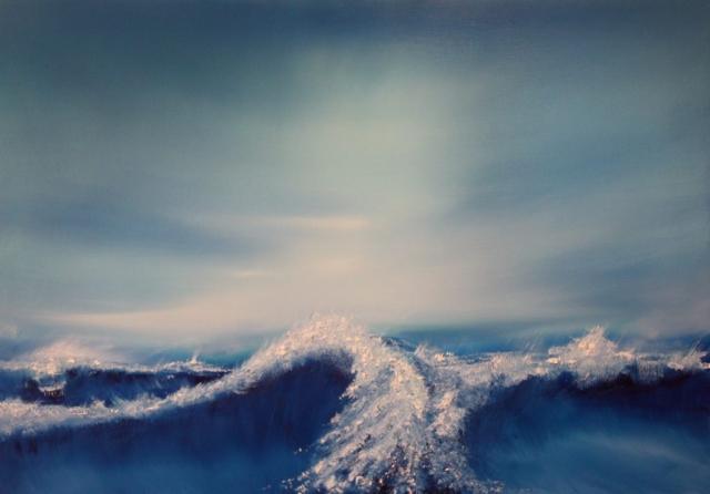 Jonathan Speed | Twilight Ocean | Limited edition (25) Somerset enhanced velvet fine art print | 47x40cm, unframed | £55