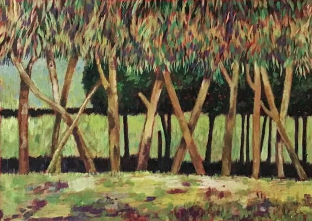 Maxine Fitter | Woodland | Acrylic | 56x45cm | £145