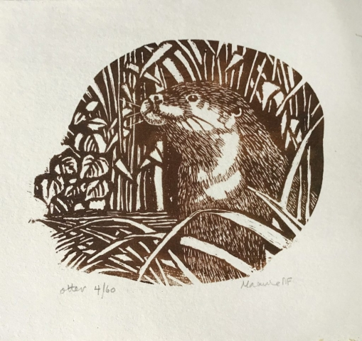 Maxine Fitter | Otter | Wood engraving | 11x10cm | £50