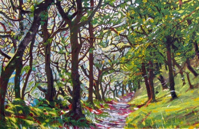 Philippa Beale | Badgworthy Wood, Exmoor | Oil on paper | 42 x 57cm | £550