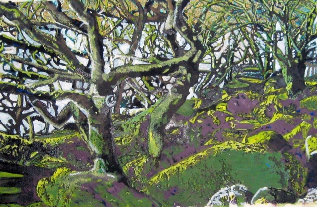 Philippa Beale | Wistman's Wood from the inside | Oil on paper | 42x57cm | £450