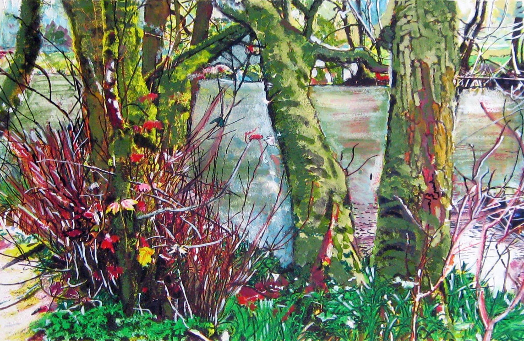 Philippa Plato-Beale | A Walk from Yelverton, Dartmoor | Ink & Watercolour | £450