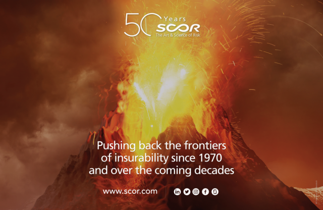 Scor advertising Pushing Back the Frontiers of insurability since 1970